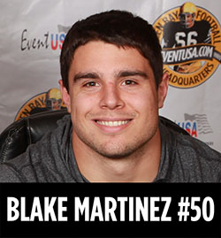 blake martinez autograph reception